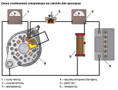 Подключение генератора ваз 2109 схема подключения